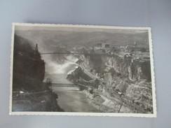 CPA PHOTO 01 GENISSIAT  VUE A L' AVAL DU BARRAGE ENSEMBLE DES INSTALLATIONS ET DEVERSOIR RIVE DROITE  1948 - Génissiat