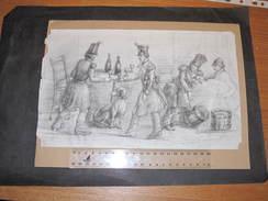 """DESSIN AU CRAYON - MENTION ' CAPLAIN JEUNE 1852 """" - Bon état. 19/31cm - Autres Collections"""