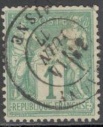 France Yvert 61 Oblit. Cote EUR 125 (numéro Du Lot 283I) - 1876-1878 Sage (Type I)