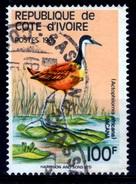 Ivory Coast, Bird, African Jacana (Actophilornis Africanus), 1985, VFU - Ivory Coast (1960-...)