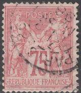 France Yvert 81 Oblit. TB Sans Défaut Cote EUR 150 (numéro Du Lot 286J) - 1876-1898 Sage (Type II)