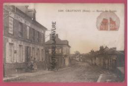 27 - GRAVIGNY--Route De Rouen----Hotel--animé - Francia