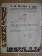 KOBENHAVN - COPENHAGE (DANEMARK) 1938 - P.G. JENSEN & SON - Vaaben, Sportmagasin Og Billardfabrik - Autres