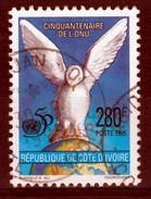 Ivory Coast, United Nations, 50th Anniv., 1995, VFU - Ivory Coast (1960-...)