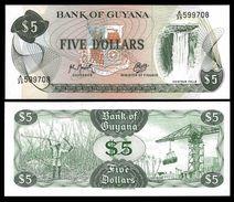 Guyana 5 DOLLARS Sign 9 ND (1992) P 22f UNC - Guyana