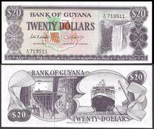 Guyana 20 DOLLARS Sign 5 ND (1966-89) P 24b UNC - Guyana