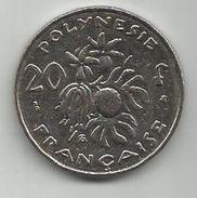 French Polynesia 20 Francs 1998. KM#9 - Polynésie Française