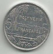 French Polynesia 5 Francs 2001. KM#12 - Polynésie Française