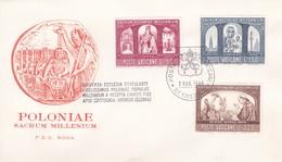 Vatikan FDC/ET 1966, Mi: 505-507 .1000 Jahre Christentum In Polen.  Poloniae Sacrum Millenium - FDC