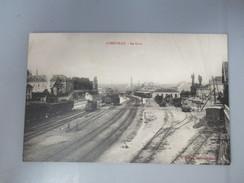 CPA 54 LUNEVILLE LA GARE TRAIN WAGONS - Luneville