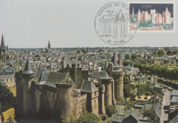 Carte  Maximum  1er  Jour    Chateau   De  VITRE   1977 - Cartes-Maximum