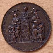 Médaille Ecole Communale D'Orgelet (Jura) 1 Er Prix B J 1875 - Professionnels / De Société