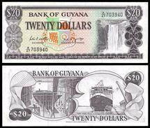 Guyana 20 DOLLARS Sign 7 ND (1966-89) P 24d UNC - Guyana