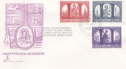 Vatikan FDC/ET 1966, Mi: 502-504 .1000 Jahre Christentum In Polen.  Poloniae Sacrum Millenium - Vaticano