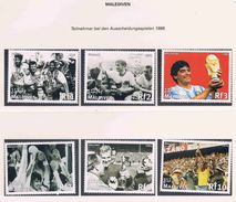 Soccer Football Maldives #2995/3000 1998 World Cup France MNH ** - World Cup