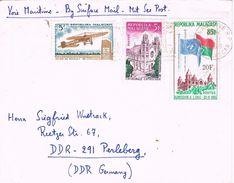 25353. Carta Por Mar TANANARIVE (Madagascar) 1968. Via Maritima, Surface Mail - Madagascar (1960-...)
