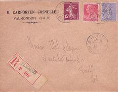 FRANCE - LETTRE RECOMMANDEE 1928 AFFRANCHISSEMENT TRICOLORE - France