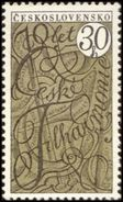 Czechoslovakia / Stamps (1966) 1497: 70th Ann. Of Czech Philharmonic - Johann Sebastian Bach (1685-1750) - Musique