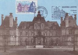 Carte Maximum  Flamme  Chateau   De   MAISONS - LAFITTE   1980 - Cartes-Maximum