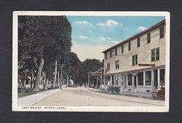 USA Mystic Connecticut - East Main Street ( Animée Garage Lunch Ed. Hammacher & Co ) - Etats-Unis
