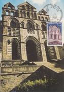 Carte Maximum  1er  Jour   Cathédrale  Du   PUY   1980 - Cartes-Maximum