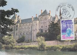 Carte Maximum  1er  Jour   Abbaye   SAINT  PIERRE    SOLESMES   1980 - Cartes-Maximum