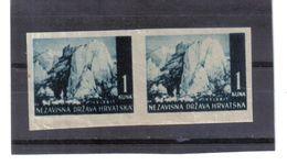 GUT1214  KROATIEN  (HRVATSKA) 1941 MICHL 50 U Geschnitten Im PAAR (*) OHNE GUMMI Siehe ABBILDUNG - Kroatien