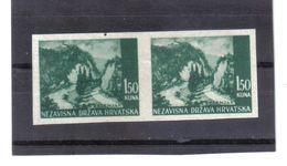 GUT1215  KROATIEN  (HRVATSKA) 1941 MICHL 51 U Geschnitten Im PAAR (*) OHNE GUMMI Siehe ABBILDUNG - Kroatien