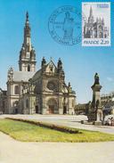 Carte Maximum  1er  Jour   Basilique   SAINTE  ANNE  D' AURAY    1981 - Cartes-Maximum
