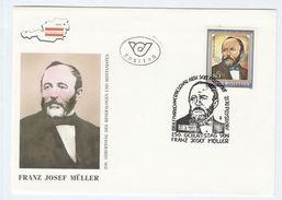 1992 Poysdorf AUSTRIA FDC Stamps MULLER VON REICHENSTEIN Mineralogist Mining Minerals Cover Stamps - Minerals