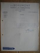 Brief 1953 MAASTRICHT - De BEAUMONT - Wapens En Ammunitiën - Pays-Bas