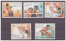 1003 Sahara Olympics Barcelona Boxing Soccer Volleyball Gymnastic MNH - Sommer 1992: Barcelone
