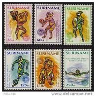Surinam / Suriname 1992 Olympics Basketball Basket Soccer Swimming Biking MNH - Zomer 1992: Barcelona