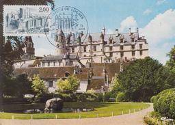Carte Maximum  1er  Jour   Chateau  De   LOCHES    1986 - Cartes-Maximum