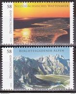 Série De 2 Timbres-poste Neufs** - Lagunes De La Basse-Saxe Parc National De Berchtesgaden - N° 2839-2840 (Yvert) - 2013 - [7] Federal Republic