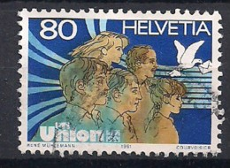 YT N° 1382 - Oblitéré - Union Des PTT - Suiza