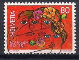 YT N° 1396 - Oblitéré - Anniversaires - Suiza