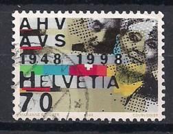 YT N° 1574 - Oblitéré - Anniversaires - Suiza