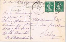 25361. Postal Ambulant SUIRE A TOURS 1928.  Ch De Bretagnoles. Vista De Chinon - France