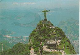 (BRA8) RIO DE JANEIRO . AIR VIEW OF CORCOVADO WITH SUGAR LOAF ON THE BACKGROUND - Rio De Janeiro