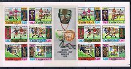 Soccer Football Ras Al Khaima Full KB 354/9 A+B KB 403/8 A+B + Bl 79 A+B Bl 94 A+B  1970 World Cup Mexico MNH ** 5 Scans - 1970 – Mexico