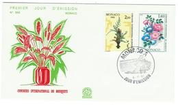 Monaco // FDC // 1981 // Concours International De Bouquets - FDC