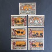 7 Geldscheine Banknoten Notgeld Süderbrarup 50 Pfennig 1921 Vzg Gra 1294.7 2-8 - Deutschland