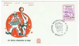 Monaco // FDC // 1981 // Festival International Du Cirque - FDC