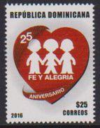 DOMINICAN REPUBLIC, 2016, MNH, CHILDREN, EDUCATION, FE Y ALEGRIA, 1v - Other