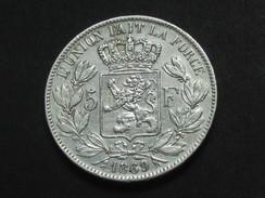 5 Francs 1869 -BELGIQUE - Leopold II Roi Des Belges **** EN ACHAT IMMEDIAT **** - 1865-1909: Leopold II