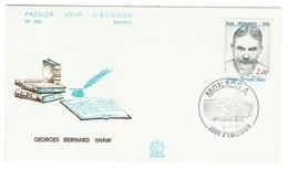 Monaco // FDC // 1981 // Centenaire De La Naissance De Georges Bernard Shaw - FDC