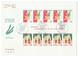 Monaco // FDC // 1981 // Europa 1981 Bloc-feuillet - FDC