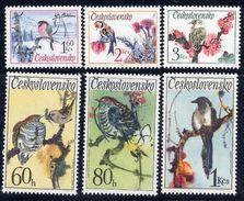 CZECHOSLOVAKIA 1972 Song Birds Set MNH / **.  Michel 2110-15 - Songbirds & Tree Dwellers