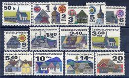 CZECHOSLOVAKIA 1971-92 Regional Architecture Definitive Set MNH / **.  Michel 1987-91, 2010-13, 2080-83, 3129 - Czechoslovakia